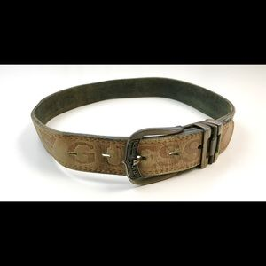 """VINTAGE 90s GUESS LEATHER BELT 26"""" 33"""" MENS WOMENS"""